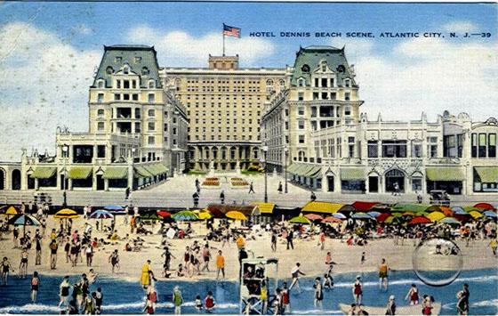 Hotel Dennis Beach Scene Atlantic City