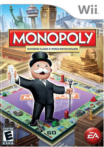 Monopoly Video Game for Nintendo Wii