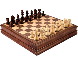Cahterine Chess Inlaid Wood Board Game
