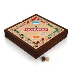 Deluxe 5-in-1 Games Set With Monopoly and Chess