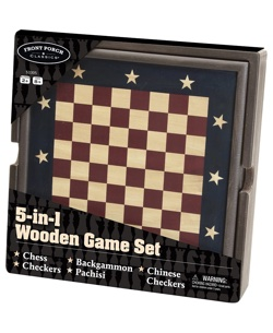 5 in 1 Wooden Game Set